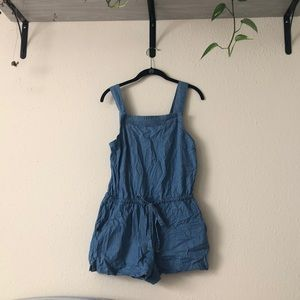 Cute denim romper